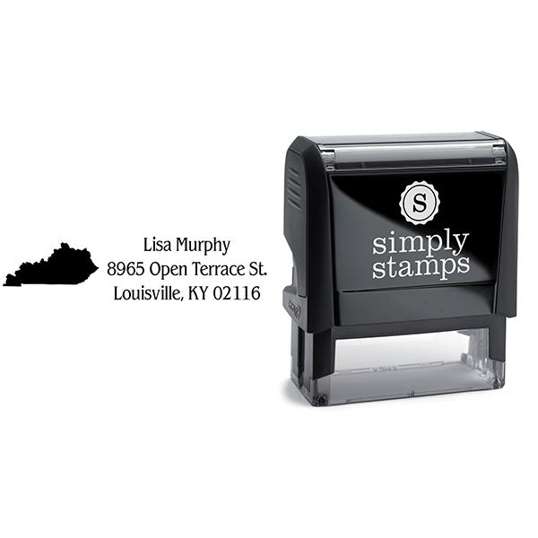 Kentucky Return Address Stamp Body and Design