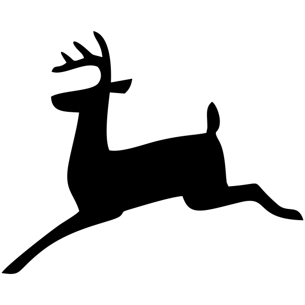 Leaping Reindeer Holiday Stamp