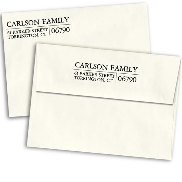 Letterpress Custom Address Stamp