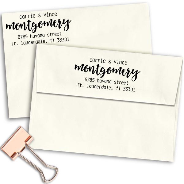 Montgomery Trendy Address Stamp Imprint Example