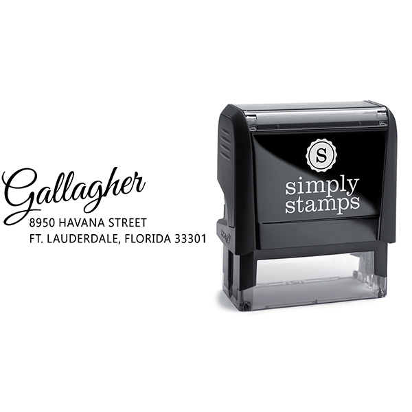 Gallagher Drive-In Trendy Address Stamp Body and Design