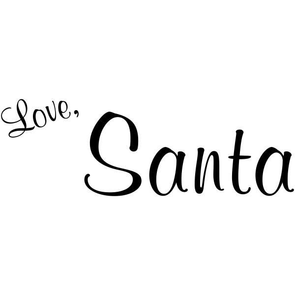 Love, Santa Signature Stamp
