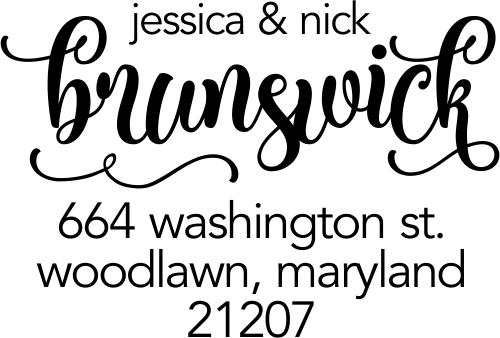 Brunswick Script Address Stamp