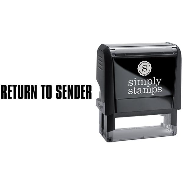 Return to Sender Business Stamp