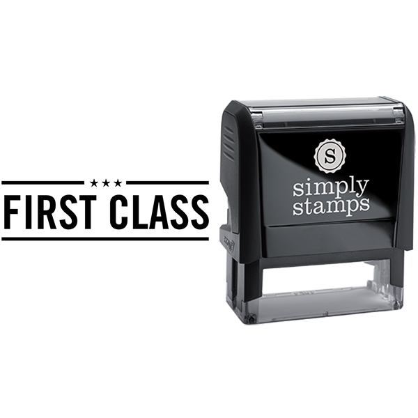 First Class with Stars Business Stamp