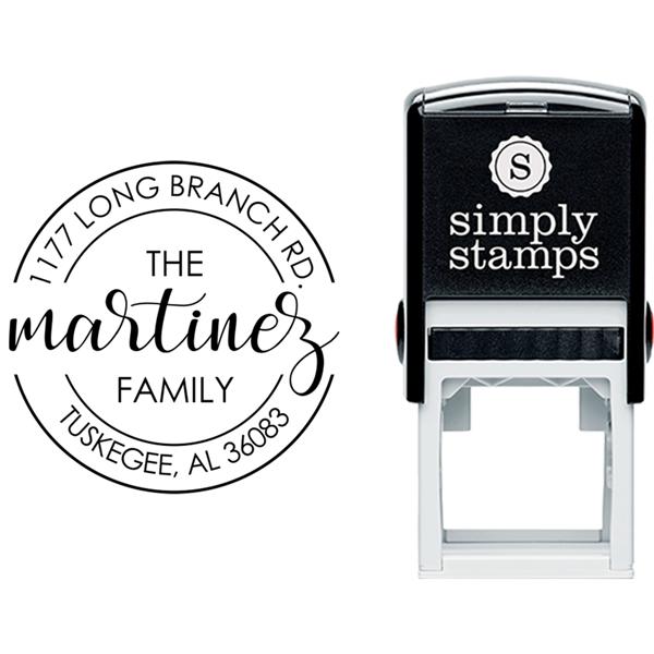 Martinez Round Return Address Stamp