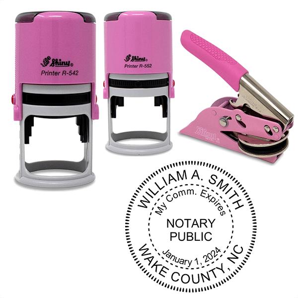 Maryland Notary Pink - Round Design