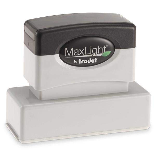 MaxLight Custom Pre-Inked Stamp - MAX-145S -  Black Ink