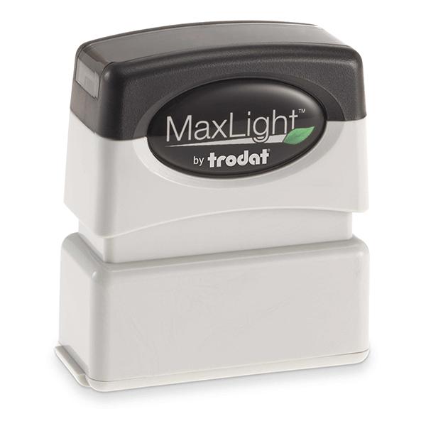 MaxLight Custom Pre-Inked Stamp - MAX-75S -  Black Ink