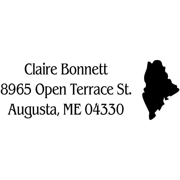 Maine Return Address Stamp
