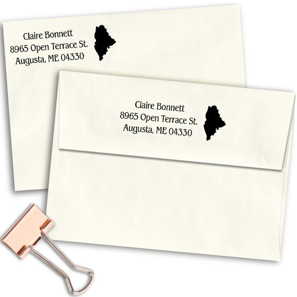 Maine Return Address Stamp Imprint Example