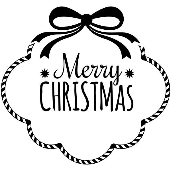 Merry Christmas Candy Cane Border Craft Stamp