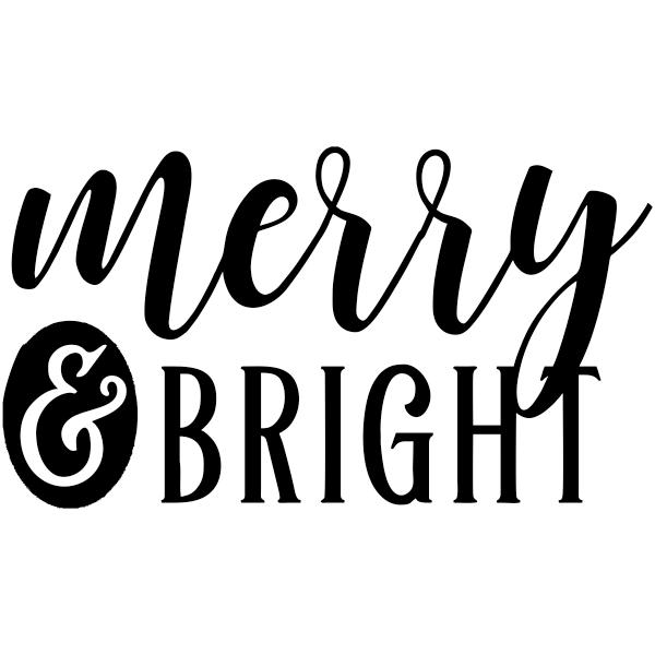 "Merry And Bright Craft Stamp | 2"" x 2"""