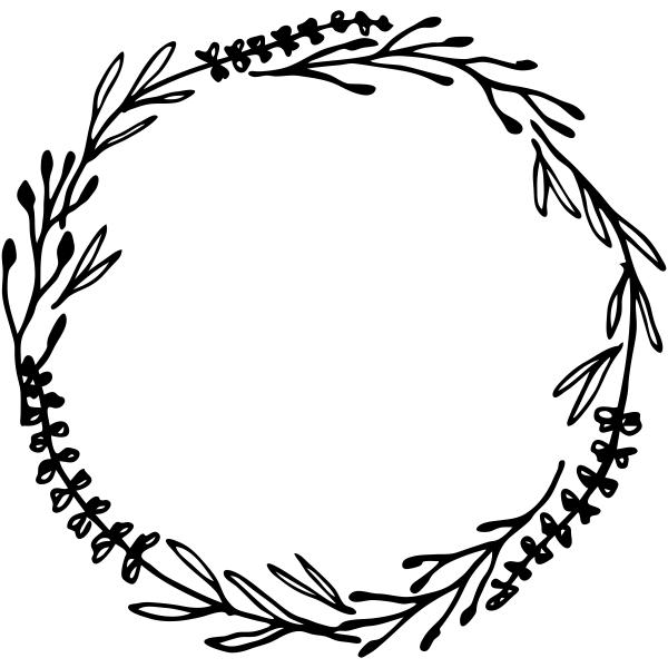 Mixed Florals Wreath Stamp