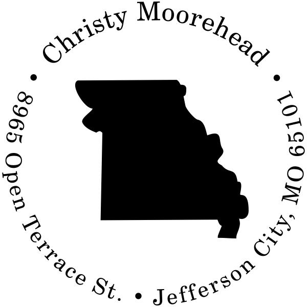 Missouri Round Address Stamp