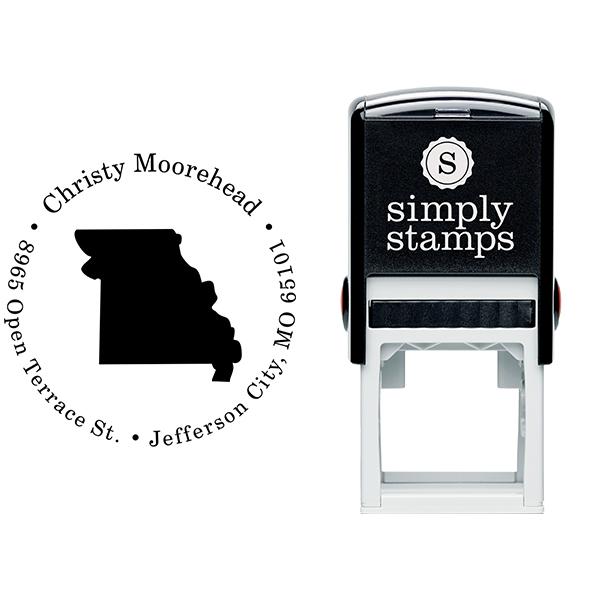 Missouri Round Address Stamp Body and Design