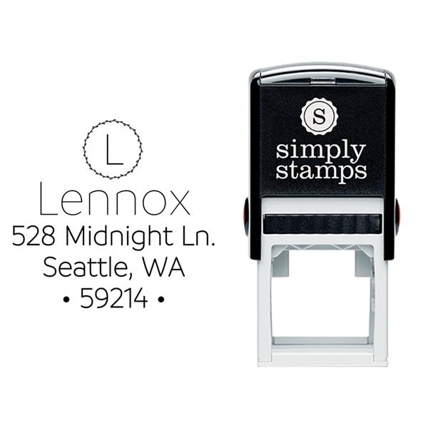 Monogram Custom Address Stamp