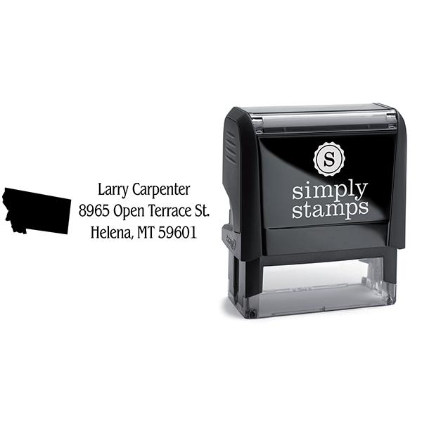Montana Return Address Stamp Body and Design