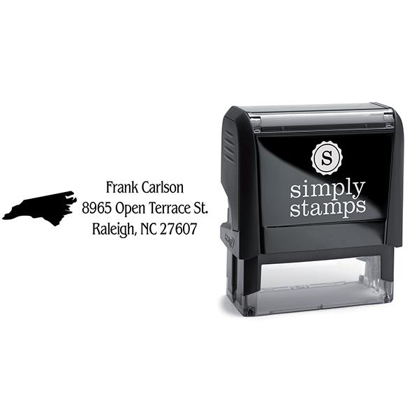 North Carolina Return Address Stamp Body and Design