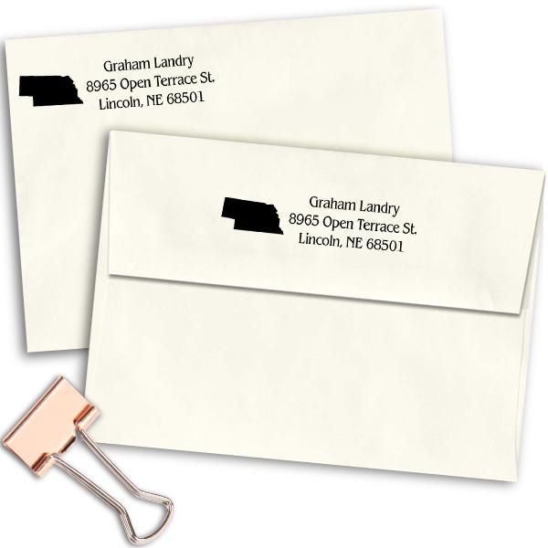Nebraska Return Address Stamp Imprint Example