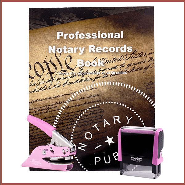 New Jersey Pink Value Notary Kit