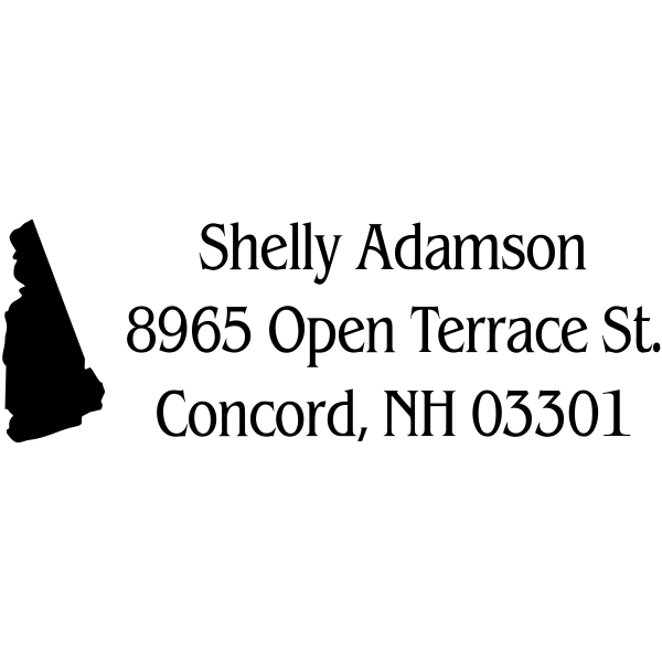 New Hampshire Custom Return Address Stamper