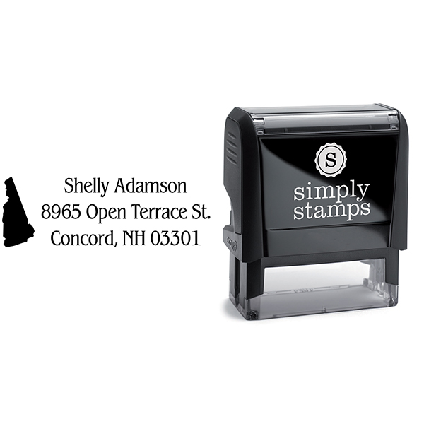 New Hampshire Return Address Stamp Body and Design