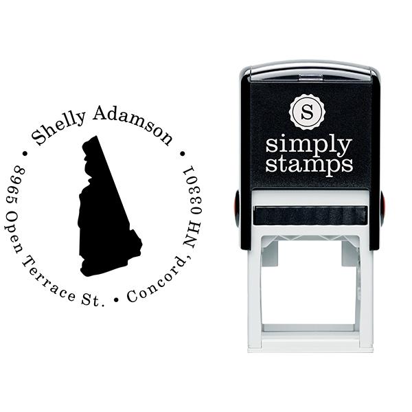 New Hampshire Round Address Stamp Body and Design