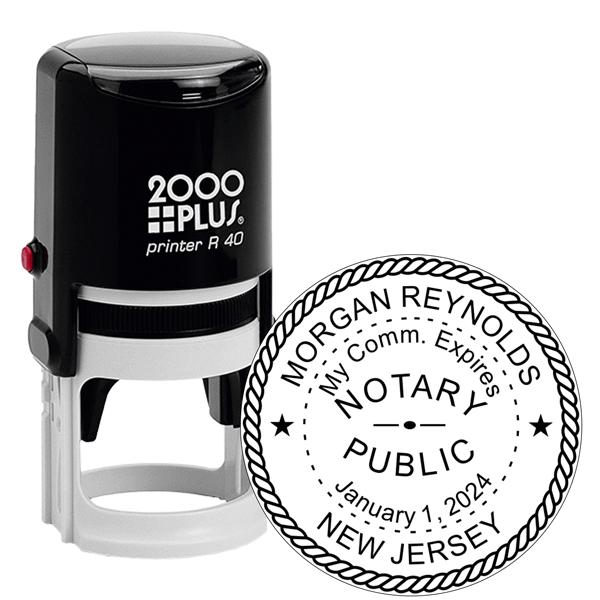 New Jersey Notary Round Stamp