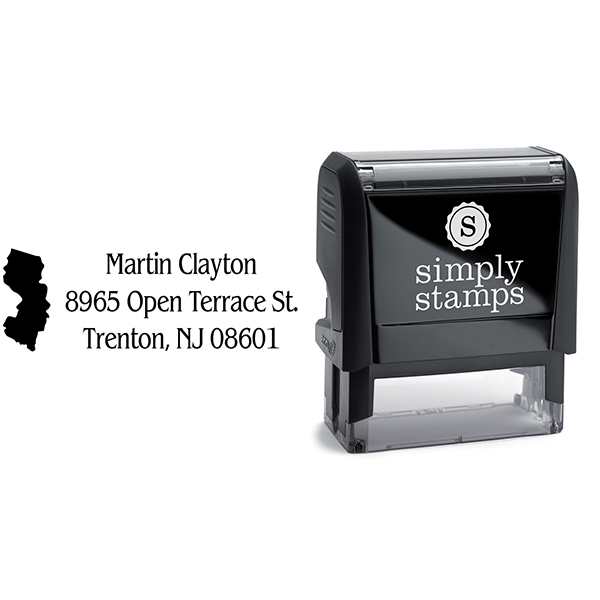 New Jersey Return Address Stamp Body and Design