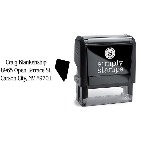Nevada Return Address Stamp Body and Design