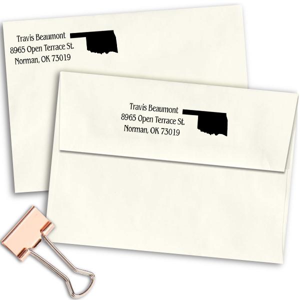 Oklahoma Return Address Stamp Imprint Example