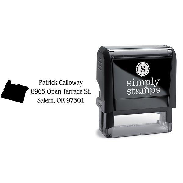 Oregon Return Address Stamp Body and Design