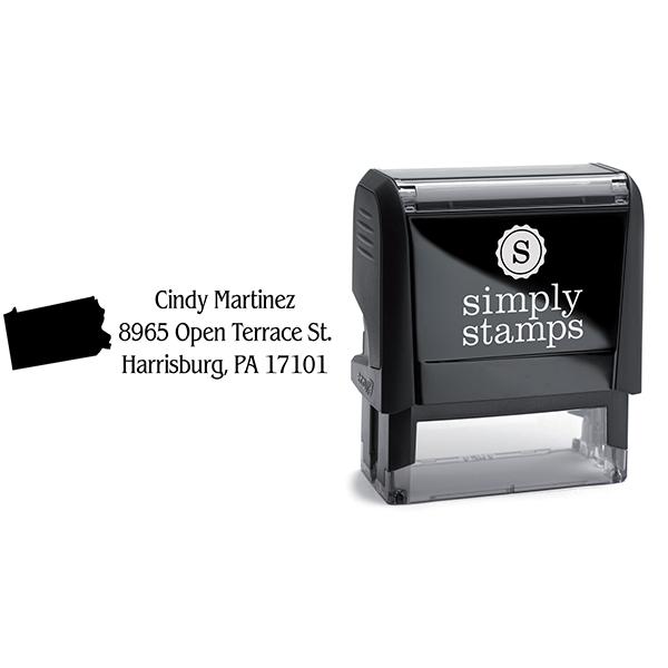 Pennsylvania Return Address Stamp Body and Design