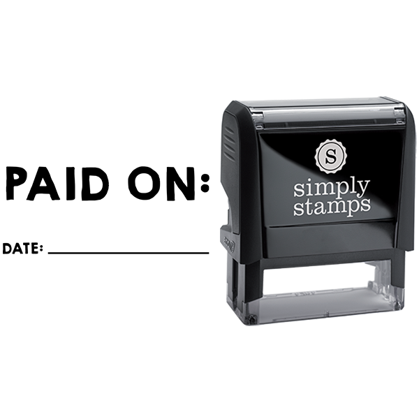 Paid on With Date Business Stamp