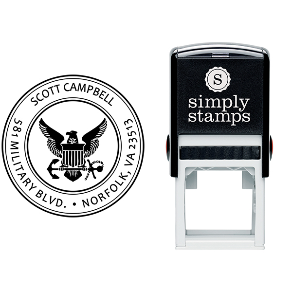 Return Address United States Navy Stamp Body and Design