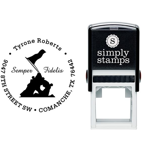 Iwo Jima Semper Fidelis Address Stamp Body and Design