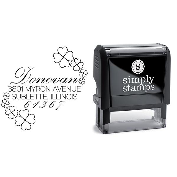 Donovan Script Address Stamp Body and Design