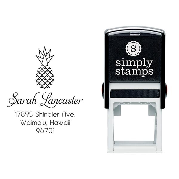 Lancaster Pineapple Address Stamp Body and Design