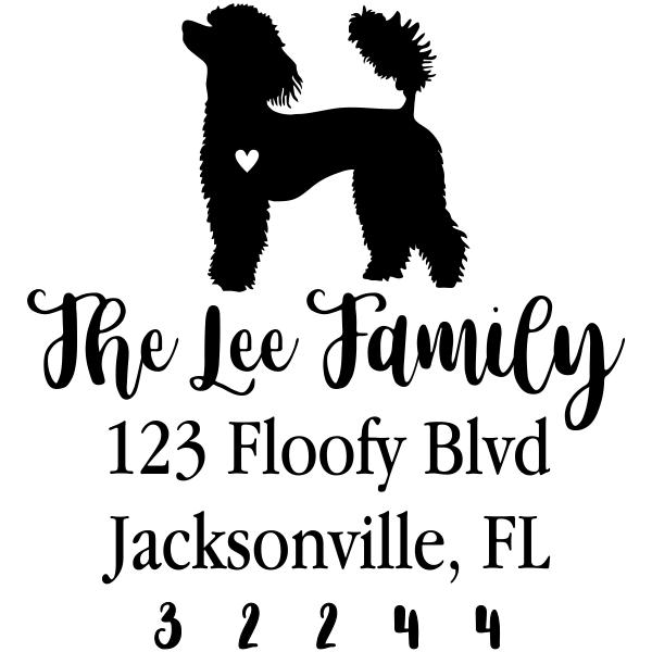 Poodle Love Address Stamp