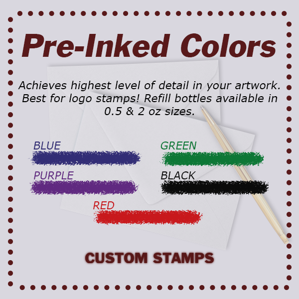 Formal Plate Address Stamp