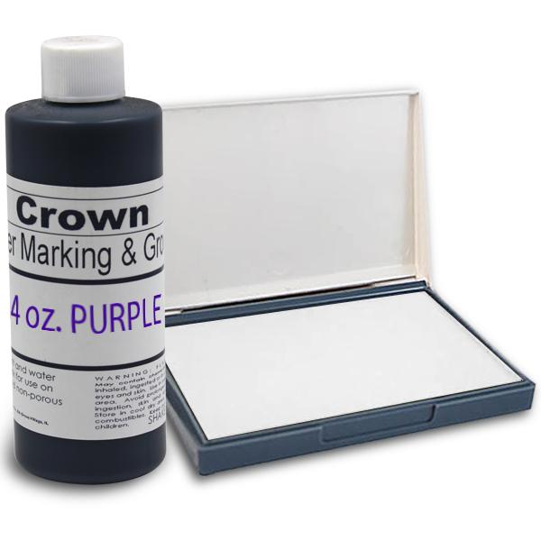 Purple 4oz SuperMarking Ink w/ Small Pad