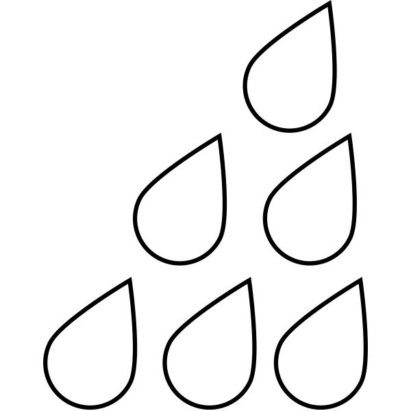Raindrops Journal Stamp