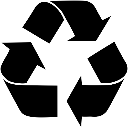 Recycle Symbol Stock Rubber Stamp