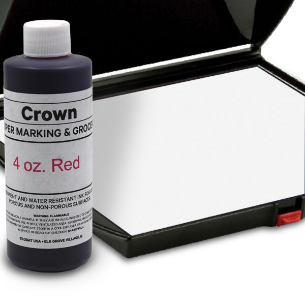 Red 4oz SuperMarking Ink w/ Large Pad