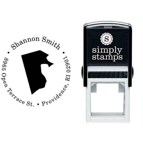 Rhode Island Round Address Stamp Body and Design