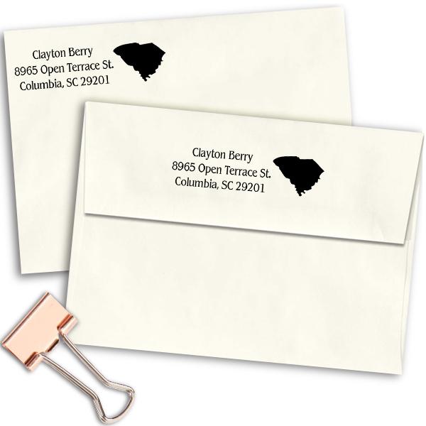 South Carolina Return Address Stamp Imprint Example