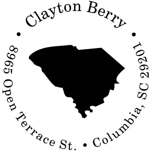 South Carolina Return Address Stamp