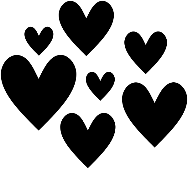 Scattered Heart Stamp