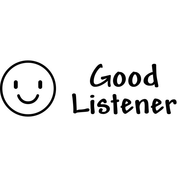 Good Listener Teacher Craft Stamp